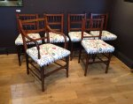F857 AESTHETIC MOVEMENT SET OF 6 DINING CHAIRS