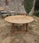 F1036 ARTS & CRAFTS CIRCULAR OAK TABLE BY LIBERTY & CO