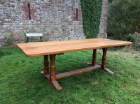 F769 LARGE OAK REFECTORY TABLE