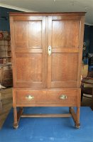F1042 EARLY AMBROSE HEAL OAK LINEN PRESS