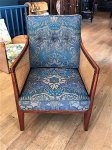 F1010 ARTS & CRAFTS SATINWOOD BERGERE CHAIR