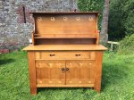 F813 GLASGOW SCHOOL OAK DRESSER