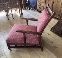 F1033 ANGLO INDIAN ROSEWOOD ARMCHAIR
