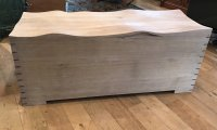 F848 TOM AYLWIN FOR PATCH ROGERS DESIGN CONTOUR OAK CHEST