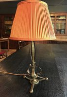 OI1106 ARTS & CRAFTS BRASS TABLE LAMP