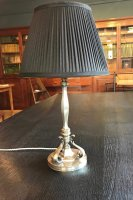OI1107 ARTS & CRAFTS SILVER PLATED TABLE LAMP