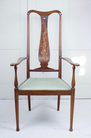 F1077 GLASGOW SCHOOL MAHOGANY ARMCHAIR BY GEORGE WALTON