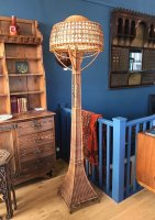 F1026 ARTS & CRAFTS WICKER STANDARD LAMP