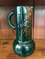OI1065 ARTS & CRAFTS POTTERY JUG BY ELTON
