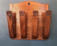 OI1074 ARTS & CRAFTS MAGAZINE RACK BY ARTHUR SIMPSON