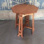 F887 ARTS & CRAFTS OAK TABLE BY LIBERTY & CO