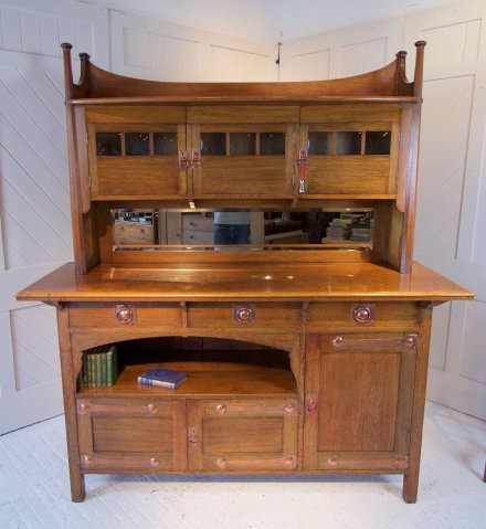 F1072 ARTS & CRAFTS OAK DRESSER ATTRIBUTED TO LIBERTY & CO