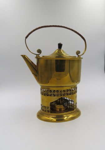 OI1053 JUGENSTIL BRASS KETTLE BY CARL DEFFNER