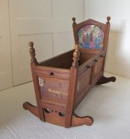 F692 ARTS & CRAFTS ROCKING CRADLE