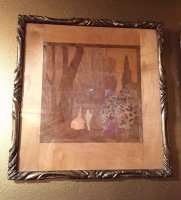 W797 ROWLEY GALLERY FRAMED INLAY WOOD PANELS
