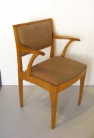 F329 EDWARD BARNSLEY PAIR OAK CHAIRS