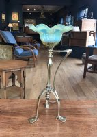 OI1054 ARTS & CRAFTS BRASS LAMP AND SHADE