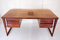 F1071 DANISH ROSEWOOD DESK BY KAI KRISTIANSEN