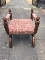 F815 GOTHIC REVIVAL OAK THRONE SEAT