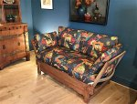 F878 THIRTIES DROP DOWN SETTEE PARKER KNOLL FOR HEALS