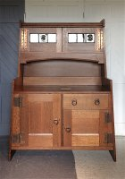 F1008 ARTS & CRAFTS OAK DRESSER BY LIBERTY & CO