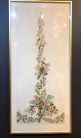 W812 VICTORIAN FRAMED EMBROIDERY