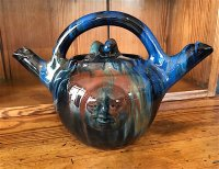 OI1068 ARTS & CRAFTS POTTERY TEAPOT BY ELTON