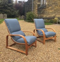 F847 THIRTIES PAIR OF ADJUSTABLE CHAIRS BY HEALS