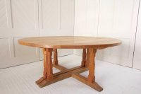 F1074 OAK CIRCULAR DINING TABLE BY WILF HUTCHINSON