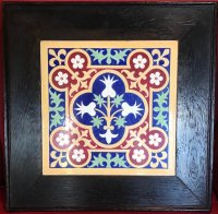 OI1093 GOTHIC REVIVAL LARGE FRAMED PUGIN TILE