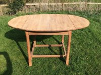 F803 TWENTIES DROP LEAF OAK TABLE BY J.A.S SHOOLBRED