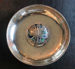 OI1085 ARTS & CRAFTS SILVER AND ENAMEL ROSE BOWL
