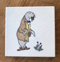 OI986 THE WALRUS TILE BY CFA VOYSEY