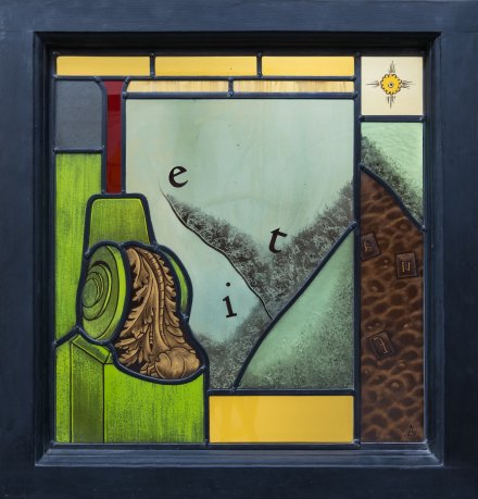 OI1056 STAINED GLASS PANEL BY ZOE ANGLES