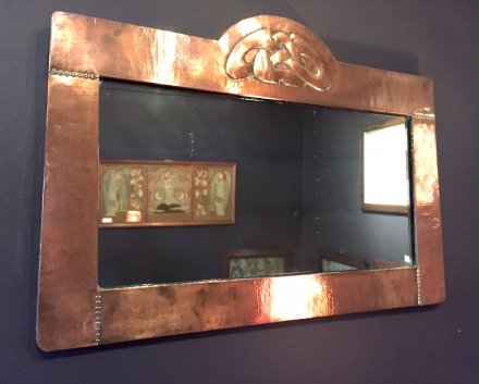 OI947 LIBERTY & CO COPPER MIRROR BY ARCHIBALD KNOX