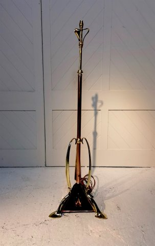 OI1114 ARTS & CRAFTS COPPER AND BRASS STANDARD LAMP