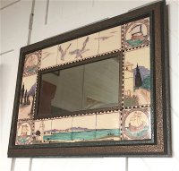 OI1058 ARTS & CRAFTS TILE FRAMED MIRROR
