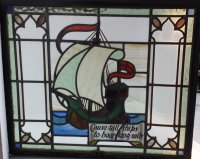 OI703 STAINED GLASS PANEL