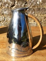 OI949 ARTS & CRAFS PEWTER WATER JUG BY ARCHIBALD KNOX