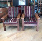 F814 ARTS & CRAFTS PAIR OF ADJUSTABLE PLANTERS CHAIRS