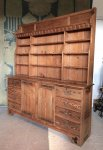 F889 AESTHETIC MOVEMENT PITCH PINE DRESSER