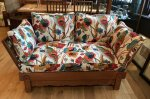 F841 HEAL & SON OAK DROP ARM SETTEE