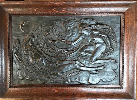 OI1049 OAK FRAMED PLASTER RELIEF PANEL