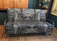F1009 FIFTIES AMERICAN CHROME SETTEE