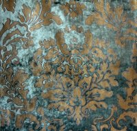 M34 WATTS BORGHESE VELVET ANTIQUE TEAL
