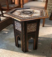 F1055 MORESQUE HEXAGONAL TABLE WITH INLAY
