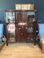 F995 ART DECO ROSEWOOD DISPLAY CABINET
