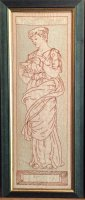 W799 ARTS & CRAFTS FRAMED EMBROIDERED PANEL