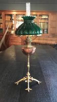 OI1103 ARTS & CRAFTS LAMP BY WAS BENSON