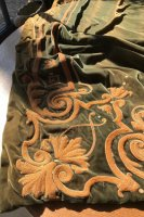T52 ARTS & CRAFTS LARGE PAIR OF EMBROIDERED CURTAINS